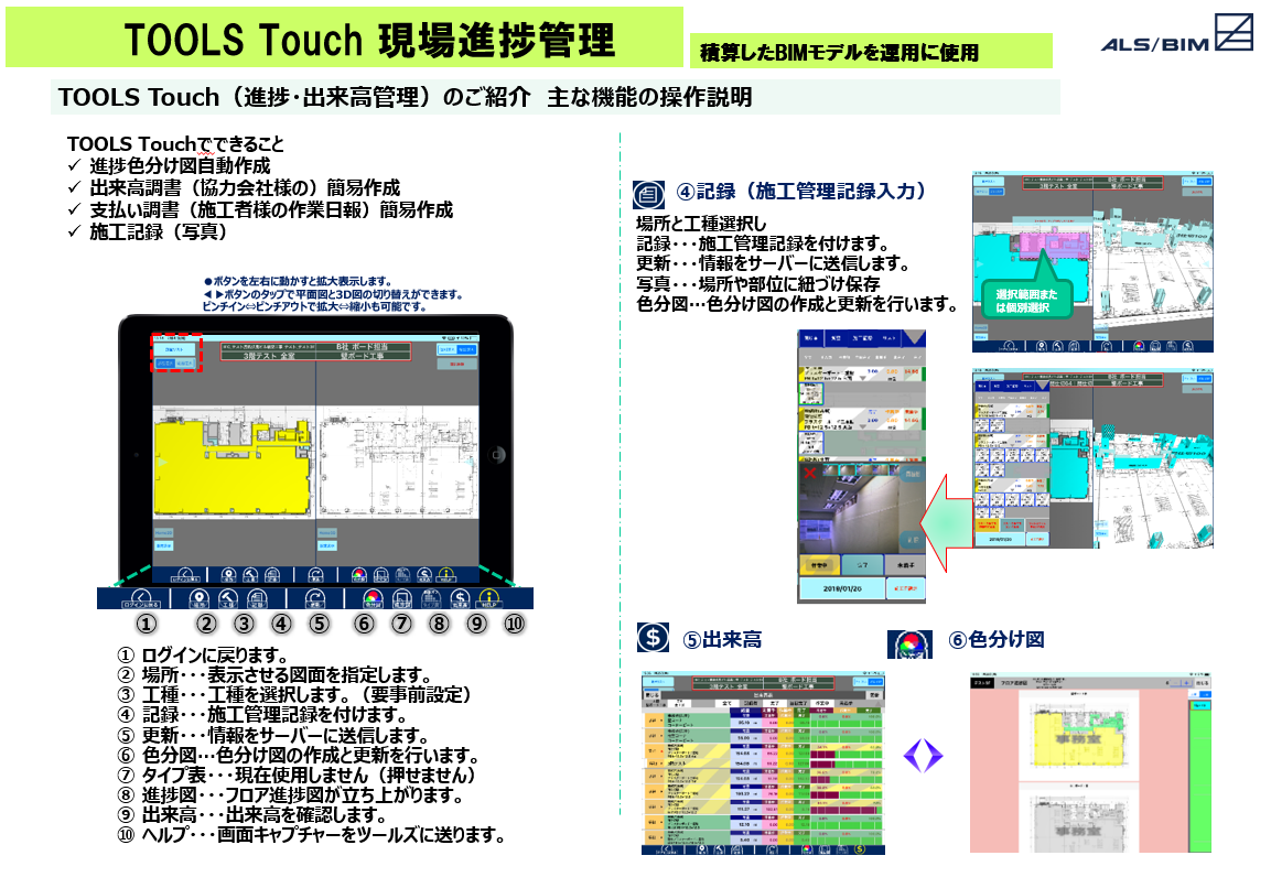 10.TOOLS Touch現場進捗